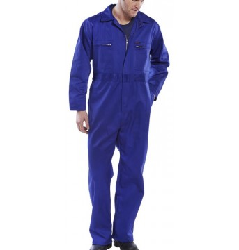 Poly Cotton Overall Zip Front Heavy Weight