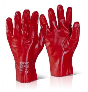 PVC GAUNTLET RED 11""