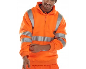Hi Vis Zipped Sweatshirt