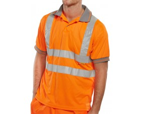 Hi Vis Polo Shirt Short Sleeve