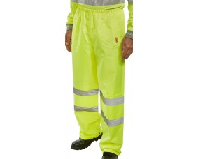 Hi Vis Heavyweight PVC Coated Polyester Trouser