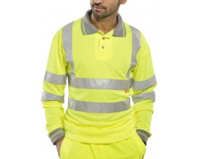Hi Viz Polo Shirt Long Sleeve