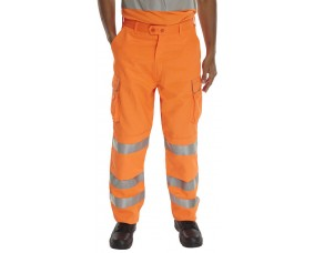 Hi Vis Polycotton Combat trousers